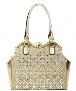 Jewel-top Rhinestone Embellished Bag S809 ROSE GOLD