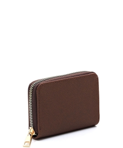 Saffiano Accordion Card Holder Wallet SA017 BROWN