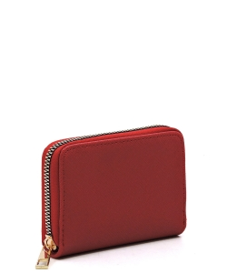 Saffiano Accordion Card Holder Wallet SA017 RED