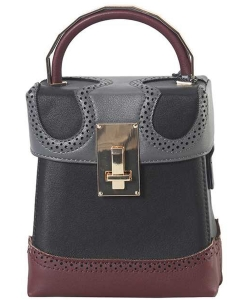 New Fashion Top Handle Satchel Bag SE-8089 BLACK