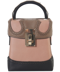 New Fashion Top Handle Satchel Bag SE-8089 BLUSH