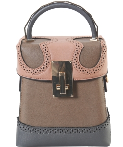New Fashion Top Handle Satchel Bag SE-8089 KHAKI