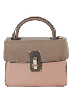 DesignerInspired Top Handle Satchel Bag SE-8090 BLUSH