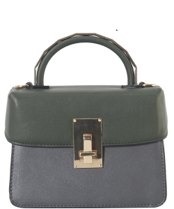 DesignerInspired Top Handle Satchel Bag SE-8090 GREY