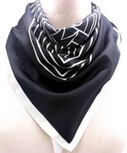 Stripe Pattern Fashion Scarf SF300097 BKIV