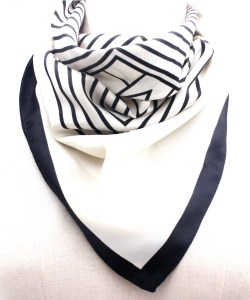 Stripe Pattern Fashion Scarf SF300097 IVJT