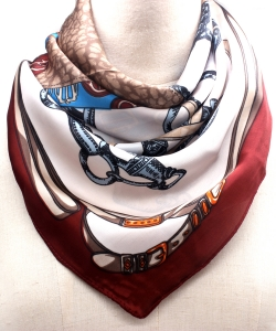 Pattern Fashion Scarf SF300099 BGMT