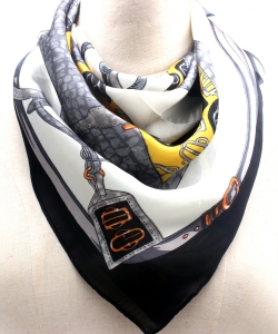 Pattern Fashion Scarf SF300099 BKMT
