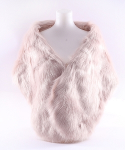 Faux Fur Shawl Winter Scarf  SF320010 IVORY