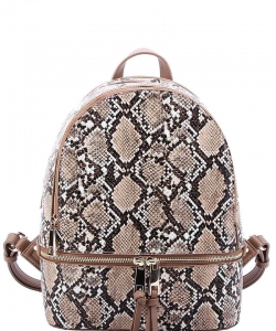 Hot Trendy Snake Texture Backpack SL1062 STONE