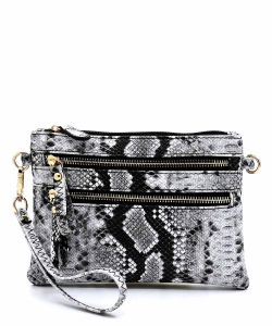 Python Snake Skin Clutch & Cross Body Bag SLM001 BLACK2