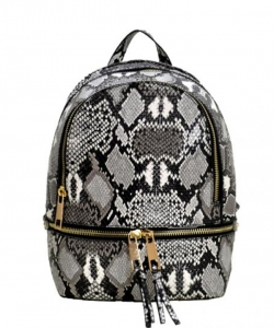 New Fashion Snakeskin Backpack with Wallet  SLM1062W BLACK