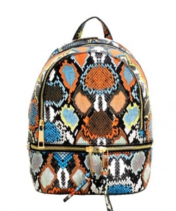 New Fashion Snakeskin Backpack with Wallet  SLM1062W MULTI3
