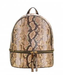 New Fashion Snakeskin Backpack with Wallet  SLM1062W TAUPE