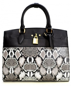 New Fashion Snakeskin Backpack with Wallet  SLM1099 BLACK