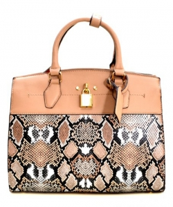 New Fashion Snakeskin Backpack with Wallet  SLM1099 TAN