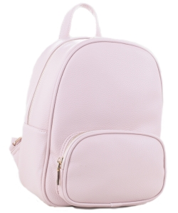 Womens Leather Backpack  SM19519 BLUSH