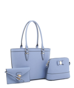 Women's Tote Handbag Set SM19775 BLUE