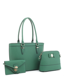 Women's Tote Handbag Set SM19775 GREEN