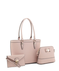 Women's Tote Handbag Set SM19775 MAUVE
