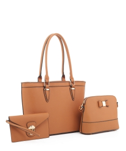 Women's Tote Handbag Set SM19775 TAN
