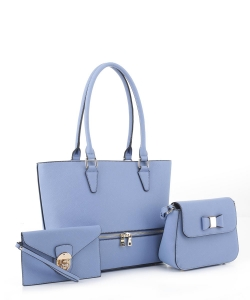 Womens Tote Handbag Set SM19776 BLUE