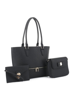 Women's Tote Handbag Set SM19776 BLACK