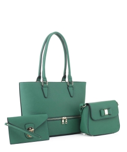 Women's Tote Handbag Set SM19776 GREEN