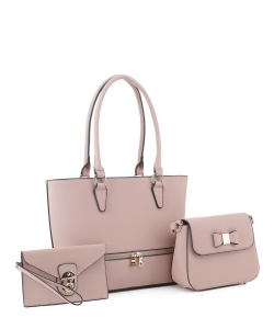 Women's Tote Handbag Set SM19776 MAUVE