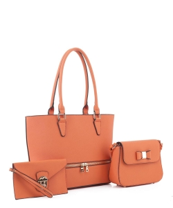 Women's Tote Handbag Set SM19776 ORANGE