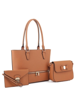 Women's Tote Handbag Set SM19776 TAN