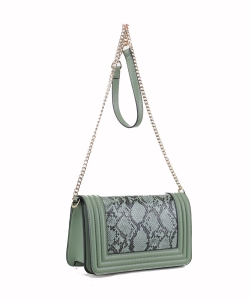 New Fashion Snakeskin Crossbody Bag SM20037 MINT