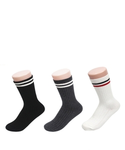 12 Pairs Striped Crew Socks SO320017