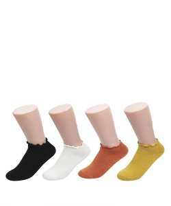 12 Pairs Basic Ankle High Socks SO320020