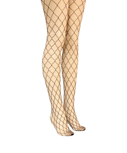 12 pcs Fishnet Tights with Beaded Pearl SO320023