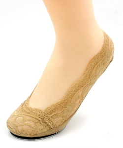 12 Pairs Fashion Womens Cotton Blend Lace Foot Socks SO320024