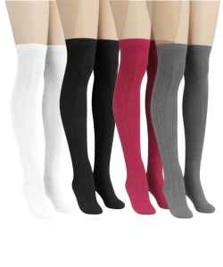 12 Pairs Over Knee Socks SO350003