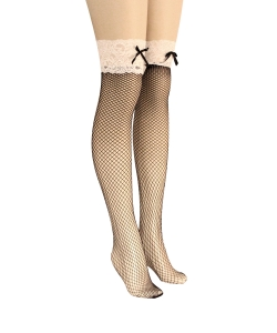 12 pcs Lace Thigh High Fishnet Socks SO400001
