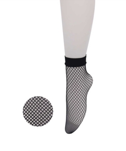 12 Pairs Fishnet Ankle High Socks SO400021