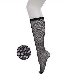 12 Pairs Fishnet Knee half High Socks SO400022