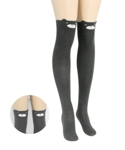 12 pairs Over Knee Thigh High Socks Stockings with Ears SO400034
