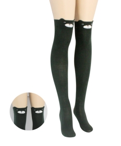 12 pairs Over Knee Thigh High Socks Stockings with Ears SO400035