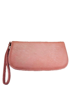 Faux Leather Wallet T0003 CORAL