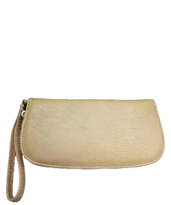 Faux Leather Wallet T0003 Khaki