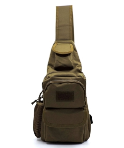 Military Canvas Large Sling Backpack TR-1720 KHAKI