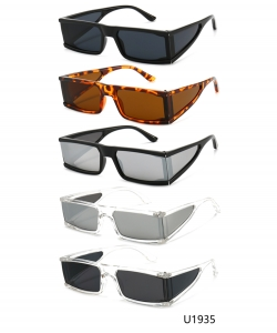 12 Pieces/Pack Unisex Designer Western Sunglasses U1935