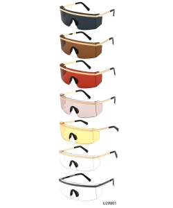 12 Pieces/Pack Unisex Designer Western Sunglasses U20801