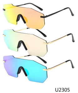 12 Pieces/Pack Unisex Designer Western Sunglasses U2305
