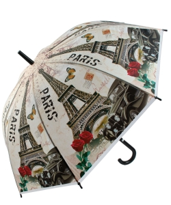 12 pcs  Paris Eiffel Tower Print Umbrella UM0035