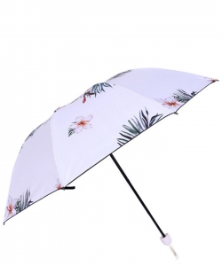 Printed Folding Umbrella UM0070 WHITE